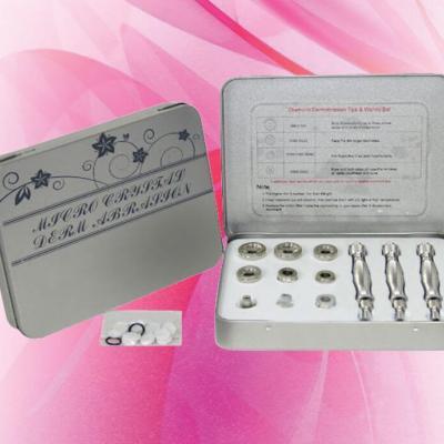 Кутия с 9 накрайника за диамантено дермаабразио (сребро)
