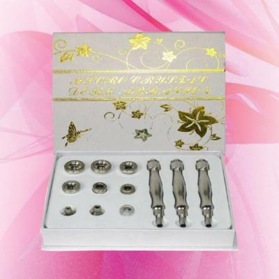 Кутия с 9 накрайника за диамантено дермаабразио (злато)